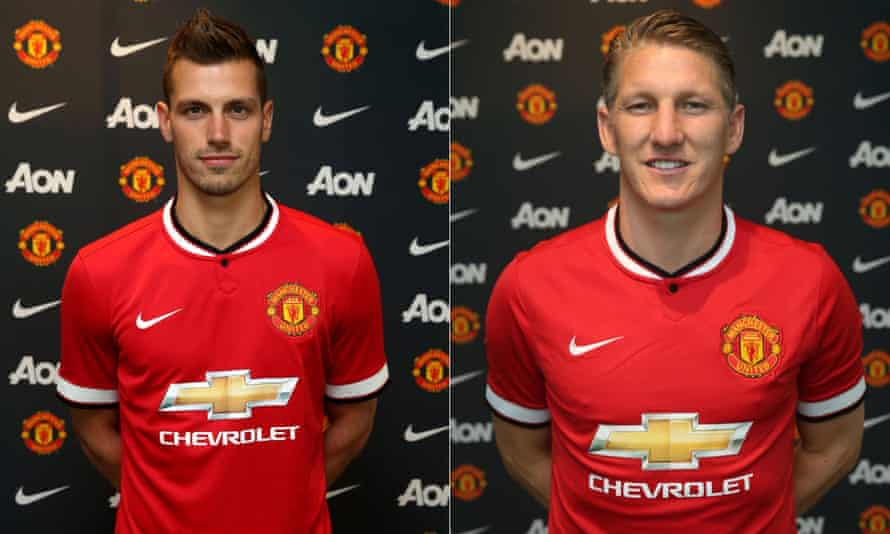 New Manchester United signings Morgan Schneiderlin and Bastian Schweinsteiger.
