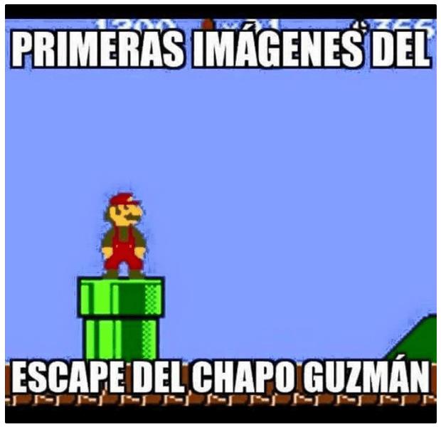 El Chapo as Mario.