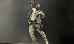 Kanye West at Glastonbury 2015