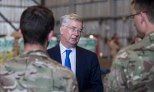 Michael Fallon, defence secretary.