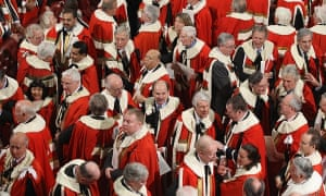 Peers attending the state opening of parliament.
