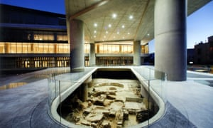 The shiny, modern Acropolis Museum in Athens.