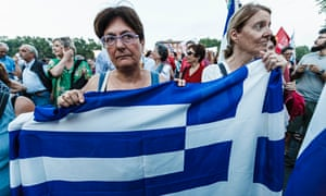 Demonstration To Support 'No' Vote In Upcoming Greek Referendum In Rome, Italy