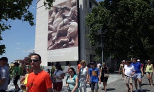 Tourists visit the Acropolis museum in Athens, 'a must-see for any visitor to the Greek capital'