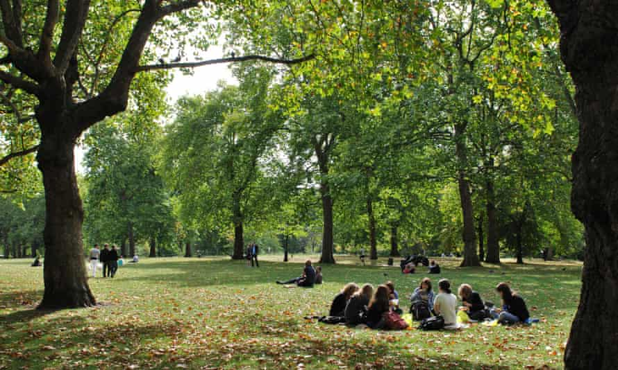 Green Park in central London.