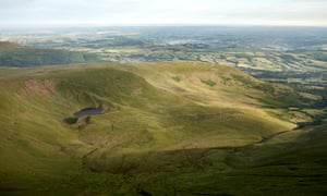 The terrain around Pen y Fan, the highest peak in southern Britain, where the soldiers died.