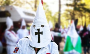 A member of the Traditionalist American Knights chapter of the Ku Klux Klan