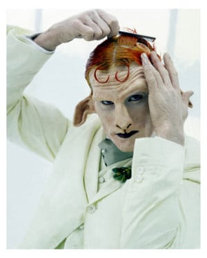 Matthew Barney at the satyr in Cremaster 4.