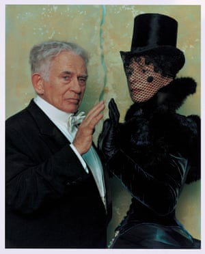 Norman Mailer, left, as Houdini in Cremaster 2.