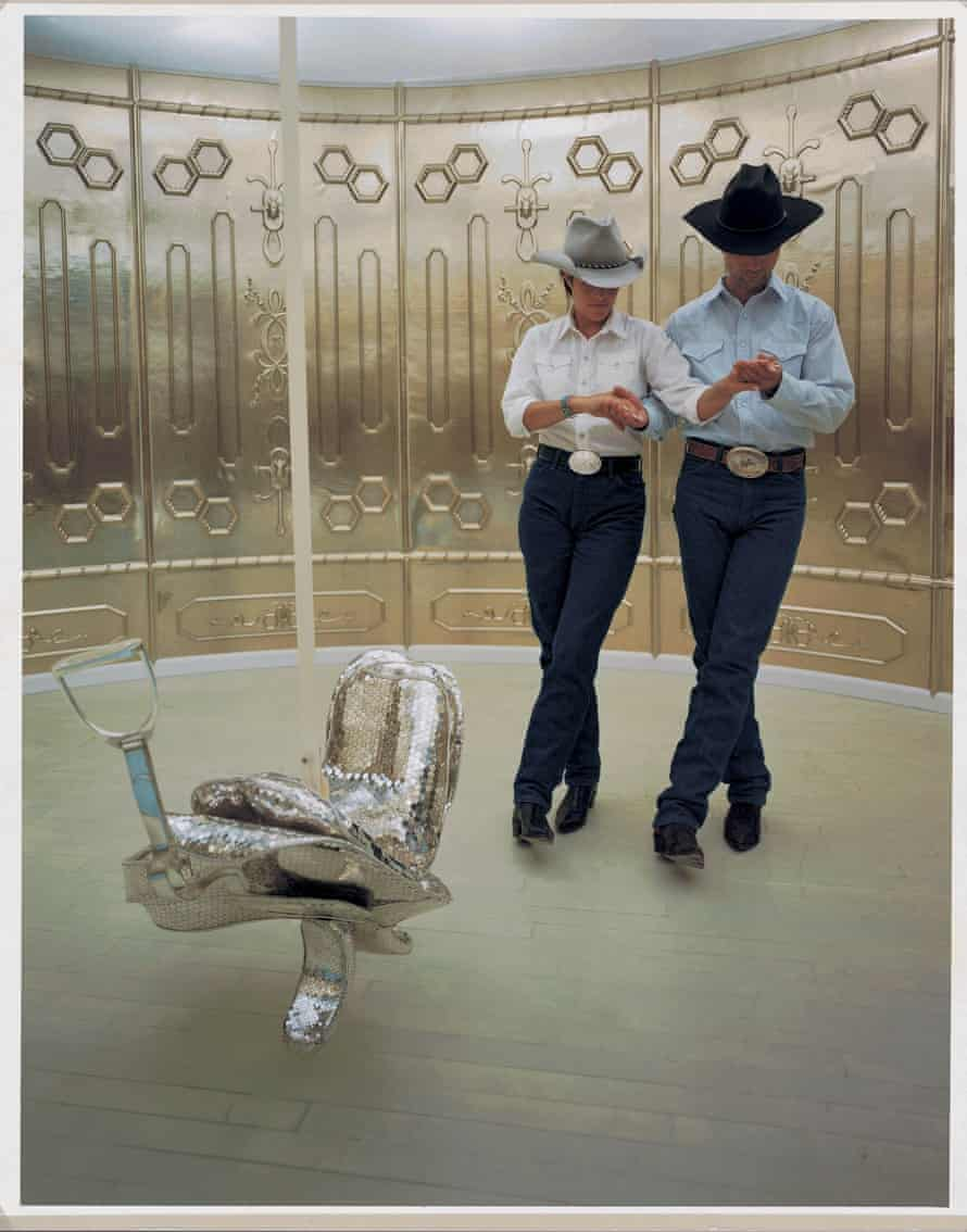 The cowboys and saddle of Cremaster 2.