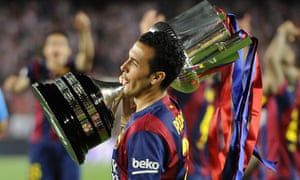Barcelona's forward Pedro. At least for now.