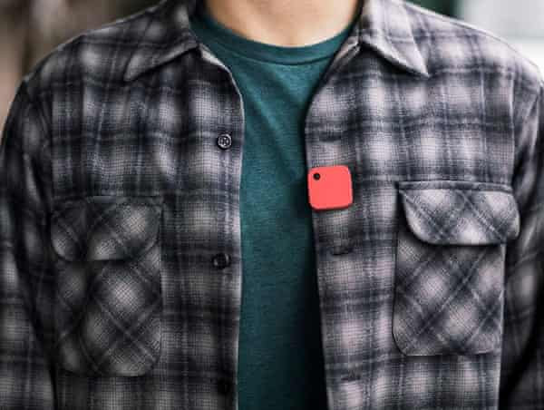 A student wearing Narrative Clip