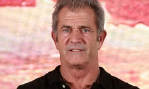 Mel Gibson at the press conference for The Bombing