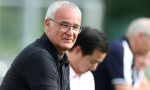Leicester City manager Claudio Ranieri watches his new team train for the first time at their pre-season camp in Spielfeld, Austria.
