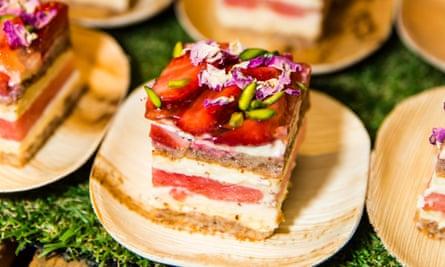 Black Star Strawberry Watermelon cake