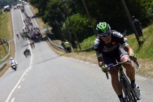 France's Pierrick Fedrigo on his way to building the breakaway's advantage.