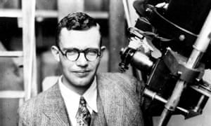 Clyde Tombaugh and telescope