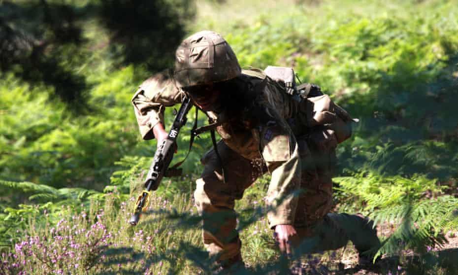 A female recruit at Sandhurst
