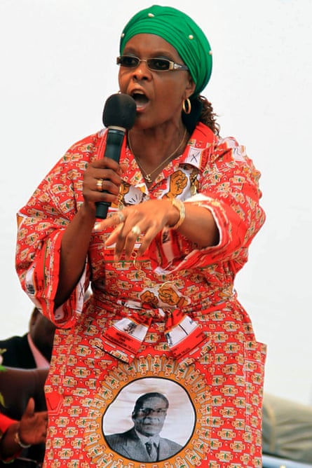 Grace Mugabe makes her first political speech, at a rally in October 2014.