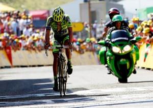 A tough day for Alberto Contador.