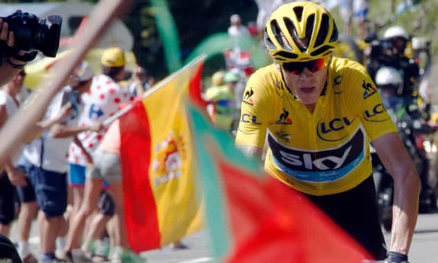 Chris Froome rides clear of the field to win stage 10 of the 2015 Tour de France.