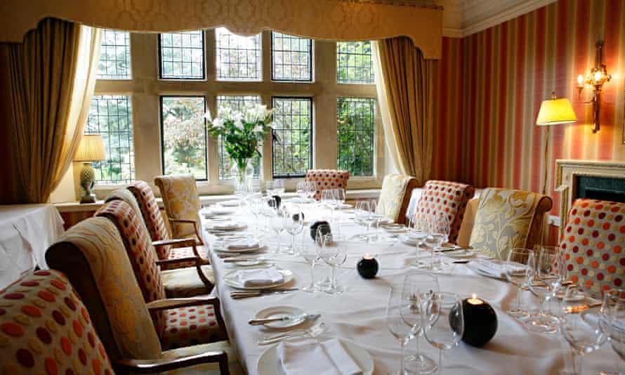 Fischer's at Baslow Hall restaurant