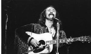 Photo of David Crosby circa 1970