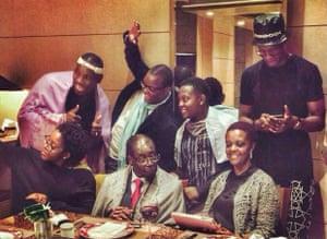 The Mugabe family on holiday.