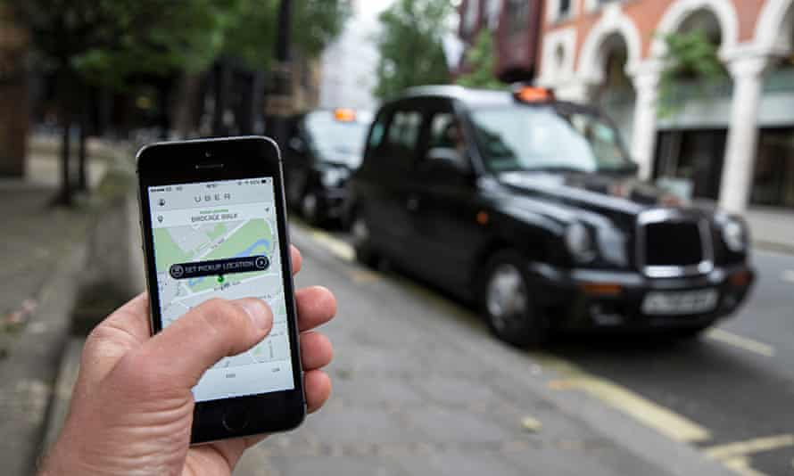 London black cab drivers protest over Uber