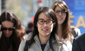 Ellen Pao leaves the San Francisco Superior Court Civic Center Courthouse with her legal team during a lunch break from her trial on March 25, 2015 in San Francisco, California. Reddit interim CEO Ellen Pao is suing her former employer, Silicon Valley venture capital firm Kleiner Perkins Caulfield and Byers, for $16 million alleging she was sexually harassed by male officials.  (Photo by Justin Sullivan/Getty Images)