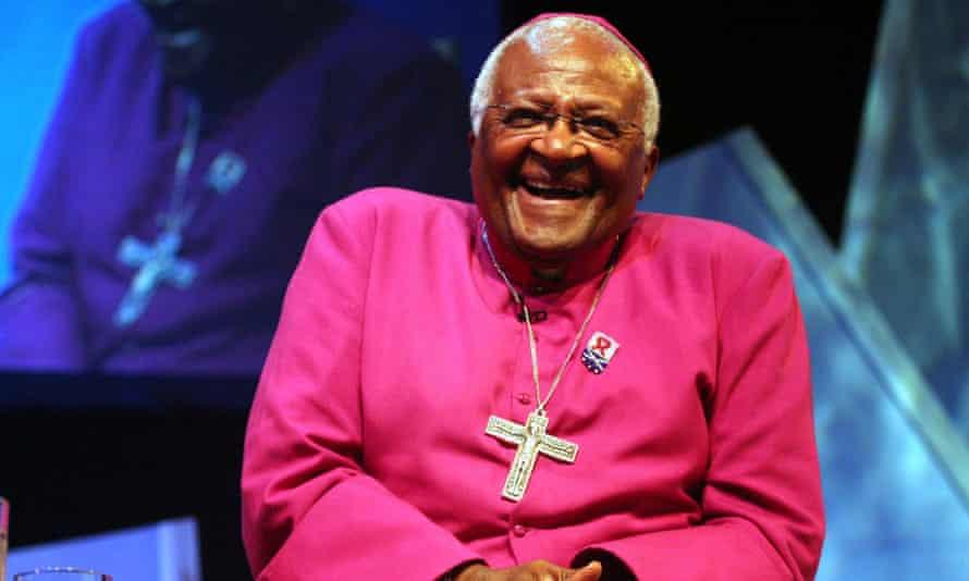 Desmond Tutu laughing