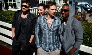 Boyband Blue at a press meeting in the Netherlands in 2011
