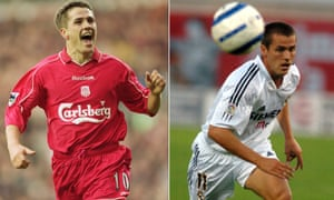 Michael Owen came through the youth ranks at Anfield and left to join Real Madrid for £8m at a time when Liverpool were off the pace at home and in Europe.