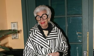 'The guys see glamour, fantasy, humour, whimsy in how I dress': Iris Apfel attending a party in 2006.