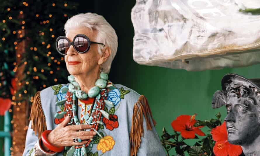 Star of the show: a scene from the film Iris, directed By Albert Maysles.
