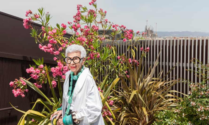 'Everyone knows older women, no matter how much of a jock you are, look like a horse's arse in a strappy dress': Iris Apfel in Barcelona.