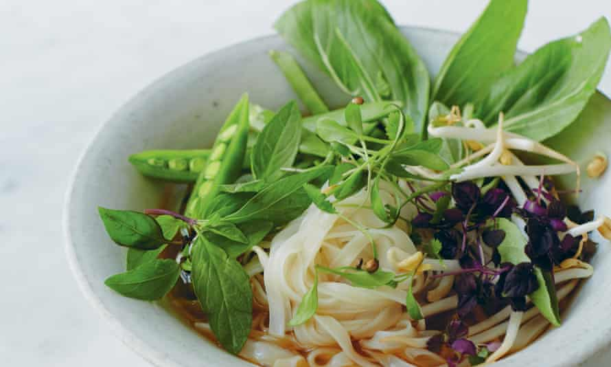 Fragrant herb and star anise pho