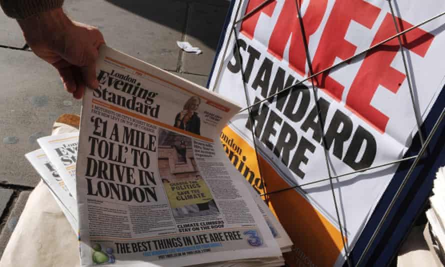 london evening standard free paper newspaper