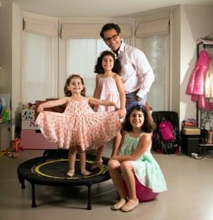 Nadim Saad and daughters