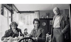 Paul McGann,Richard E Grant and Llewellyn Rees on set in the 'Penrith tea-rooms'.
