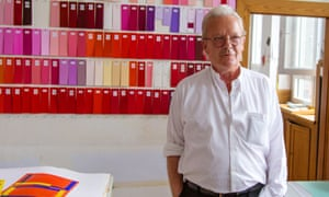 Imi Knoebel inside his studio's colour workshop.