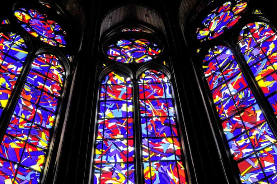 Knoebel's stained-glass windews in Reims cathedral