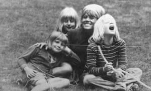 four members of the Johnson family as children