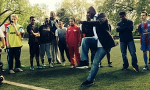 Clarence Seedorf, Uefa's global ambassador for diversity and change, dishes out some tips on a visit to Street League.