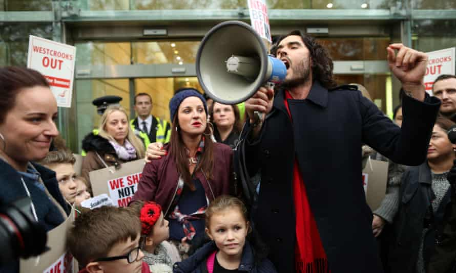 Russell Brand campaigning