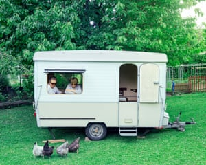 Folding caravan €1,100 Épernay 1981 Esterel caravan, sleeps three. Awning and canopy. Good condition, fridge, new tyres, information by phone only.The Lesages bought their caravan from their neighbours for ¿1,000 in 2005. They're asking ¿1,100 to give themselves a ¿100 margin for bargaining. The couple travelled all over France with it. Bernard says it has two big advantages: it doesn't catch the wind and has a clear rear view. The sale will finance their 50th anniversary party, which will take place in the garden space the caravan takes up now.