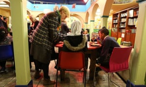 Children during dinner service at Kids Company in Lambeth.