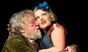 Desmond Barrit (Sir John Falstaff) and Wendy Morgan (Doll Tearsheet) in Henry IV  Part 2  by William Shakespeare @ Theatre Royal Bath.