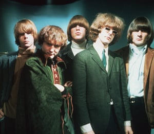 The Byrds: left to right, Chris Hillman, Dave Crosby, Mike Clarke, Roger McGuinn and Gene Clark