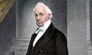President James Buchanan in the White House.